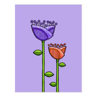 El Doodle de la diversión florece la postal anaran