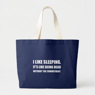El dormir como el compromiso muerto bolso de tela gigante