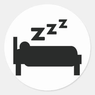 el dormir del zzz del sleepyhead pegatina redonda