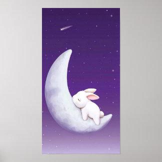 el dormir lindo del conejo póster