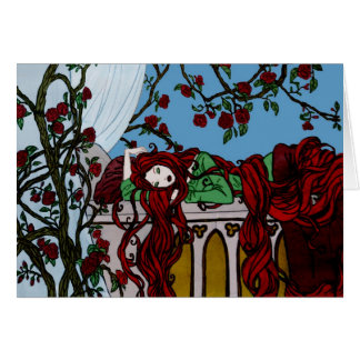 El dormir Rapunzel Tarjeta De Felicitación