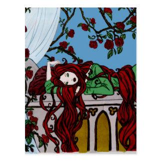 El dormir Rapunzel Postal