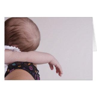 El dormir recién nacido felicitaciones