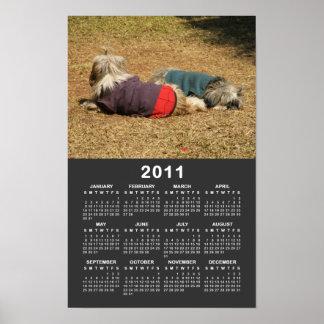 El dormitar en el calendario de Nong Khai 2011 Poster