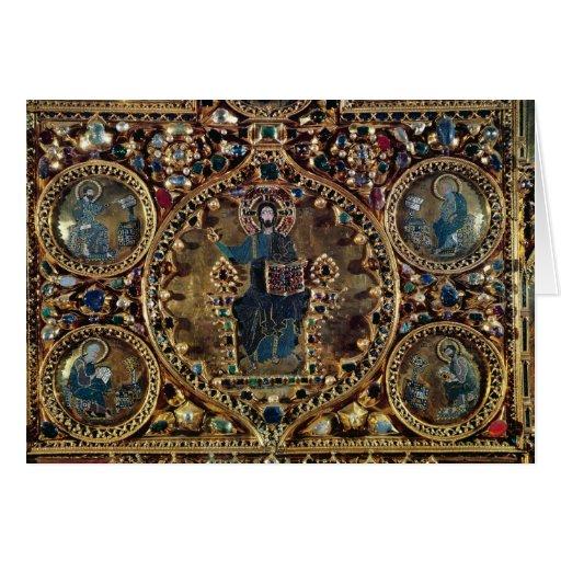 El d'Oro de Pala, detalle de Cristo en majestad co Tarjeton