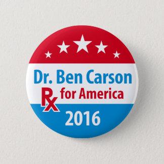 El Dr. Ben Carson 2016 - prescripción para América Chapa Redonda De 5 Cm