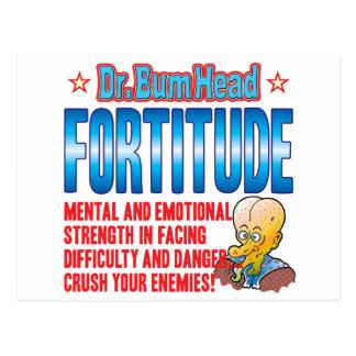 El Dr. Bum Head de la FORTALEZA DE ÁNIMO Tarjetas Postales