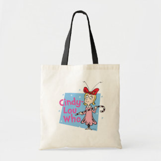 El Dr. Seuss el   Cindy-Lou que - bastón de Bolso De Tela