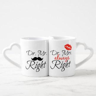 El Dr. Sr. la Right y el Dr. señora siempre Set De Tazas De Café