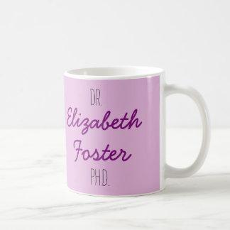El Dr. (su nombre) taza de la graduación del PhD