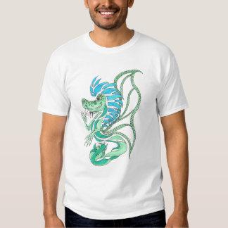 el dragón azul tribal camiseta