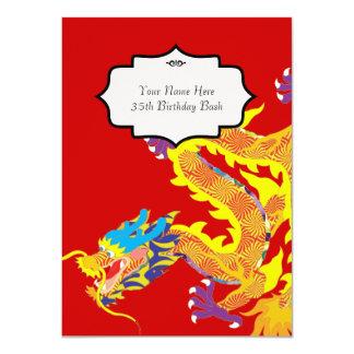 El dragón chino inspiró la invitación