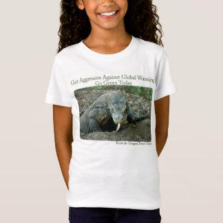 El dragón de Komodo consigue la camiseta agresiva