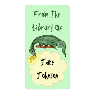 El dragón del Bookplate respira nombre de la Etiqueta De Envío