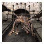 El dragón del callejón sin salida está buscando un arte fotografico