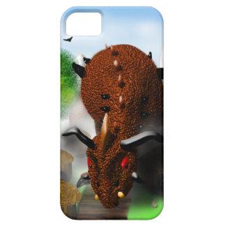El dragón en el pueblo funda para iPhone 5 barely there