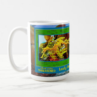 El dragón frondoso del mar, y aquí es una taza de