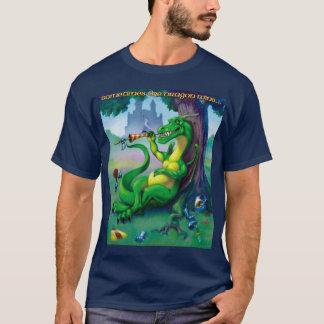 El dragón gana a veces verde camiseta