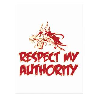 El dragón, respeta mi autoridad postal