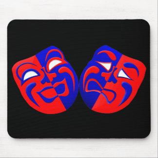 El drama enmascara Mousepad Alfombrillas De Ratones