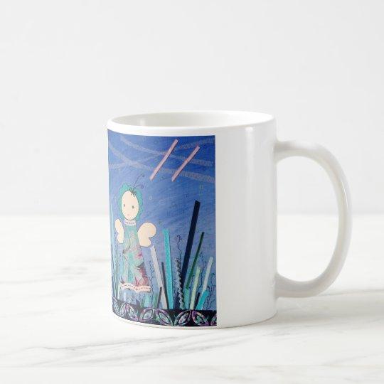 el drinkbeker del leuke resolvió el blauw del taza de café