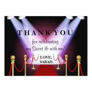 El dulce 16 de Hollywood de la alfombra roja le Invitación 11,4 X 15,8 Cm