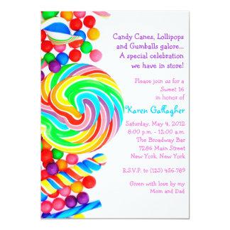 El dulce 16 del tema del caramelo de Candyland Comunicado