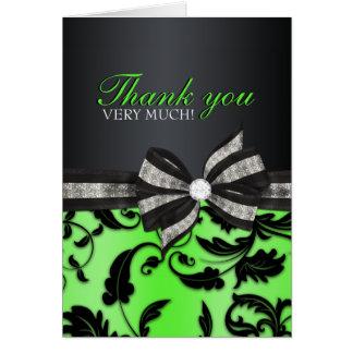 El dulce floral dieciséis del remolino le agradece tarjeta pequeña