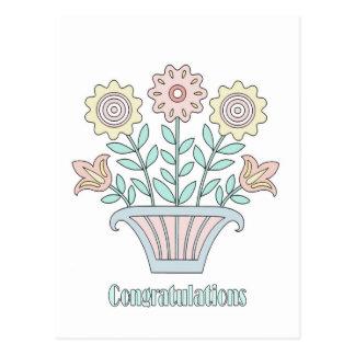 El dulce florece enhorabuena postal