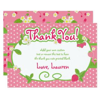 El dulce, fresa le agradece las tarjetas invitación 8,9 x 12,7 cm