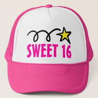 El dulce rosado dieciséis va de fiesta el gorra