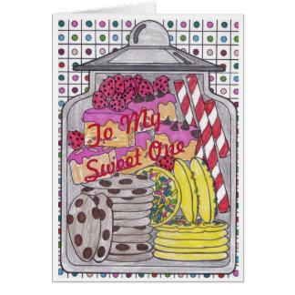 El dulce trata 1 tarjeta de cumpleaños para el