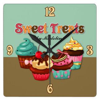 El dulce trata el reloj de las magdalenas