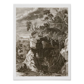 El eco de la ninfa cambiado en el sonido, 1731 (gr póster