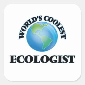 el ecologista MÁS FRESCO de los mundos Pegatina Cuadrada