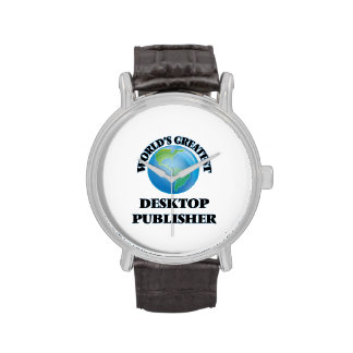 El editor de escritorio más grande del mundo reloj de mano
