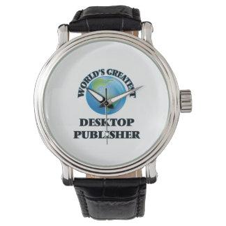 El editor de escritorio más grande del mundo reloj