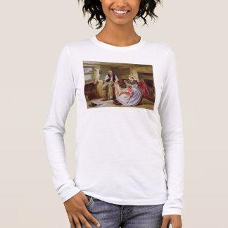 El edredón de remiendo camiseta de manga larga