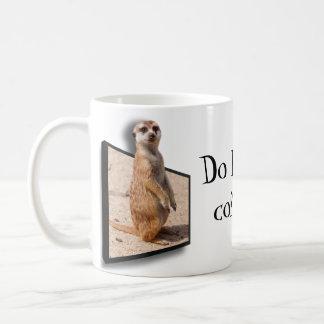 ¿el efecto 3D hace olor Coffe de I? Meerkat que Taza De Café