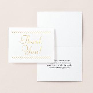 """El efecto metalizado de oro elegante """"le tarjeta con relieve metalizado"""