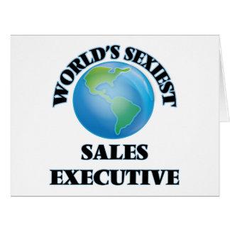El ejecutivo de las ventas más atractivo del mundo tarjeta de felicitación grande