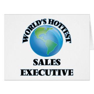 El ejecutivo de las ventas más caliente del mundo tarjeta de felicitación grande
