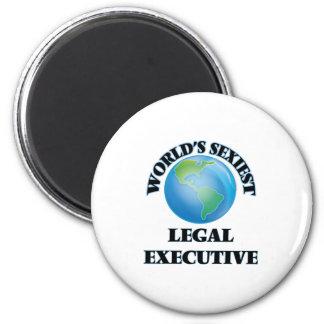 El ejecutivo legal más atractivo del mundo imán redondo 5 cm