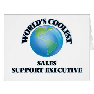 El ejecutivo más fresco de la ayuda de las ventas tarjeta de felicitación grande