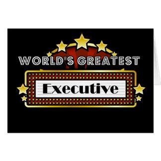 El ejecutivo más grande del mundo tarjeta de felicitación
