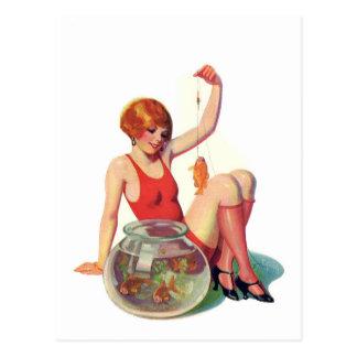 El ejemplo de la obra clásica del Goldfish Postales