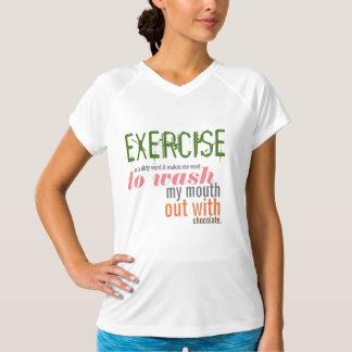 El ejercicio es una palabra sucia camiseta