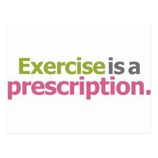 El ejercicio es una prescripción postales