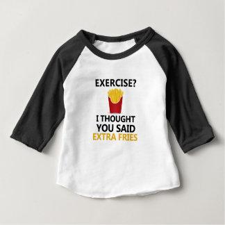 El EJERCICIO I pensó que usted dijo las fritadas Camiseta De Bebé