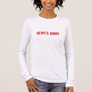 El ejército 2012 del Newt camiseta del plan de